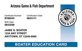 Arizona Boater Card