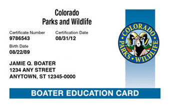 Colorado Boater Card