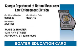 Georgia Boater Card