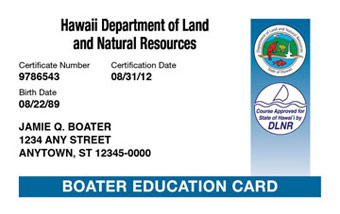 Hawaii Boater Card