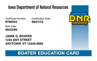 Iowa Boater Card
