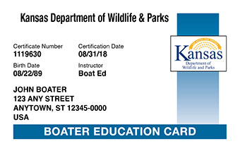 Kansas Boater Card