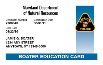 Maryland Boating License