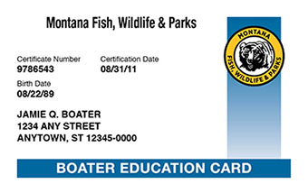 Montana Boater Card