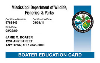 Mississippi Boater Card