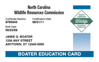 North Carolina Boater Card