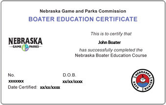 Nebraska Boater Card