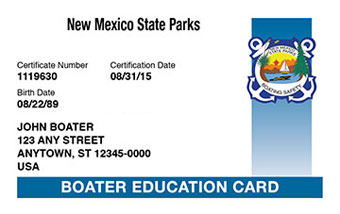 New Mexico Boater Card