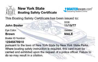 New York Boating Certificate