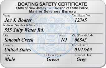 New Jersey Boater Card