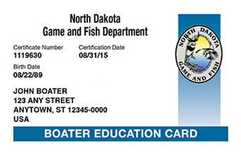 North Dakota Boater Card