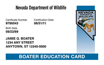 Nevada Boater Card