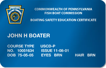 Pennsylvania Boater Card