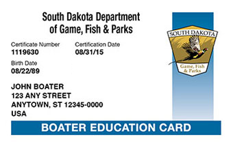 South Dakota Boater Card