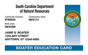 South Carolina Boater Card