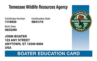 Tennessee Boater Card