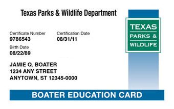 Texas Boater Card
