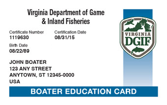 Virginia Boater Card