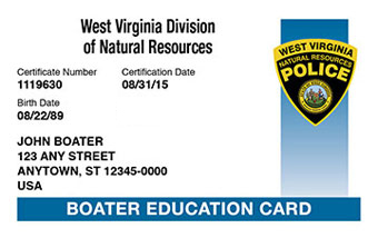 West Virginia Boater Card
