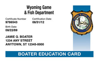 Wyoming Boater Card