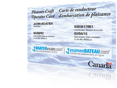 Official Pleasure Craft Operator Card