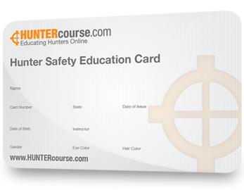 Hunter Safety Education Card