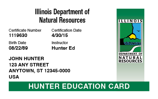 Illinois hunter education card
